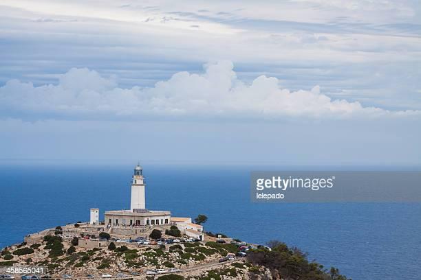 lighthouse at cape formentor (palma de majorca) spain - palma de mallorca bildbanksfoton och bilder