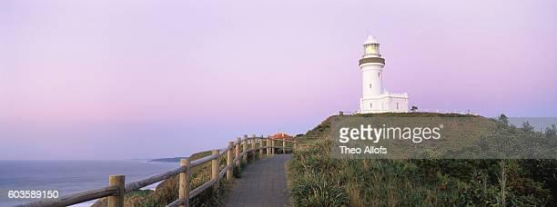 Lighthouse at dawn, Australia, New South Wales, Byron Bay