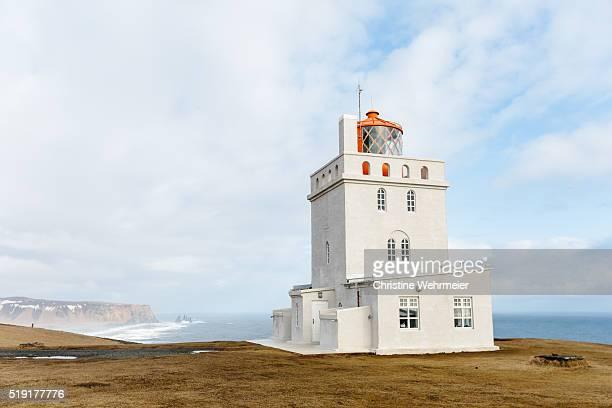 Lighthouse at Dyrhólaey, Vík í Mýrdal, Southern Iceland