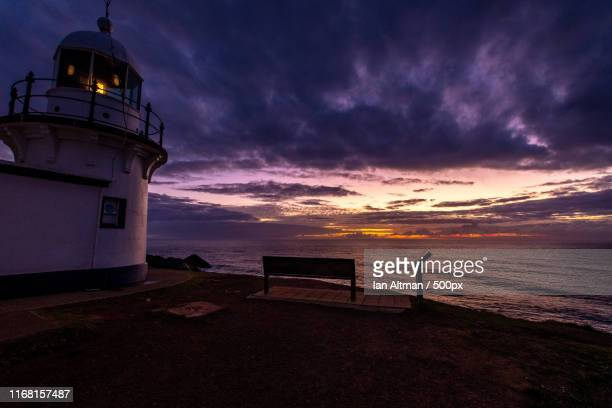 lighthouse at lighthouse beach - coffs harbour stock pictures, royalty-free photos & images