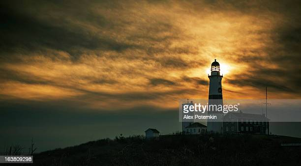 Lighthouse at Montauk point in Long Islands.