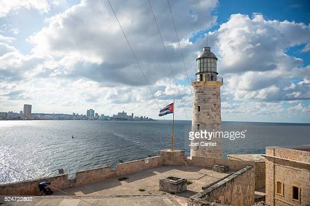 Lighthouse at Morro Castle in Havana, Cuba