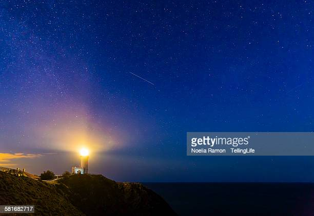 Lighthouse at night in Byron Bay, Australia