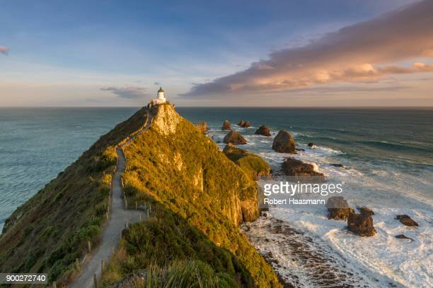 Lighthouse at Nugget Point, Catlins, Otago, Southland, New Zealand