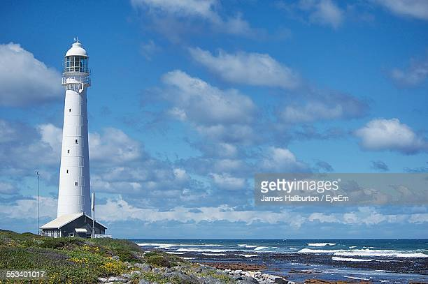 lighthouse at seaside - constantia stock pictures, royalty-free photos & images