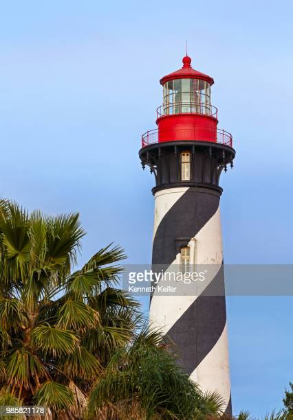 lighthouse at st. augustine, florida - st augustine lighthouse stock photos and pictures