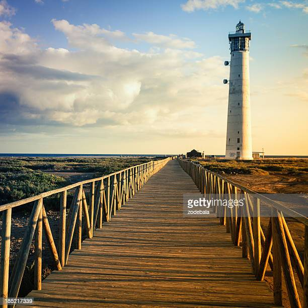 Faro al atardecer, Islas Canarias