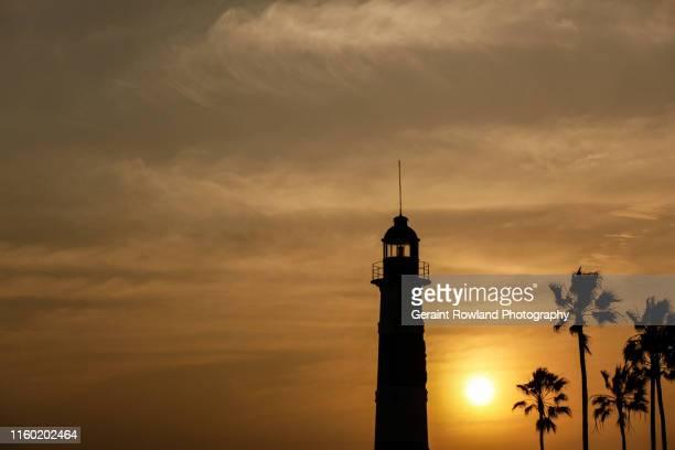 Lighthouse at Sunset, Lima
