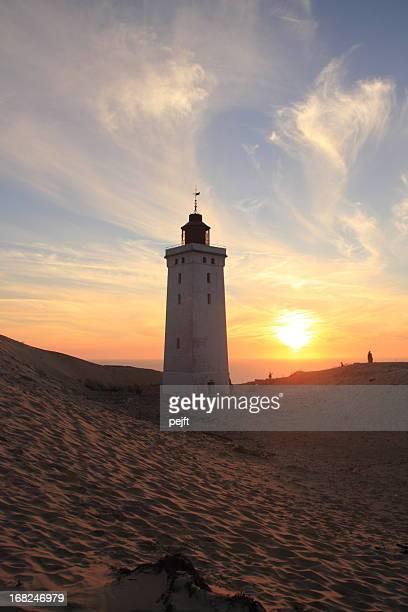 Lighthouse at sunset Rubjerg Knude Fyr , Jylland - Denmark