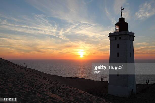 Lighthouse at sunset Rubjerg Knude Fyr , Jylland - Denmark