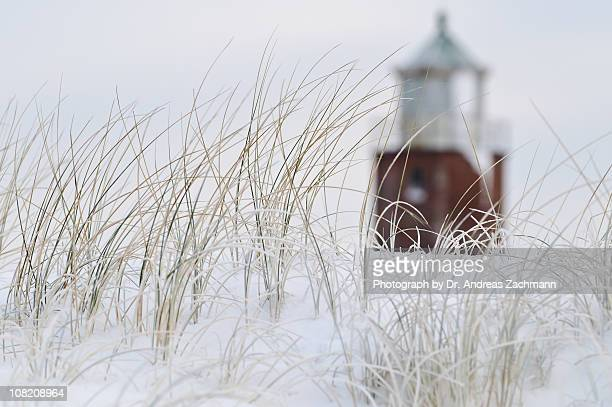 Lighthouse behind the dunes