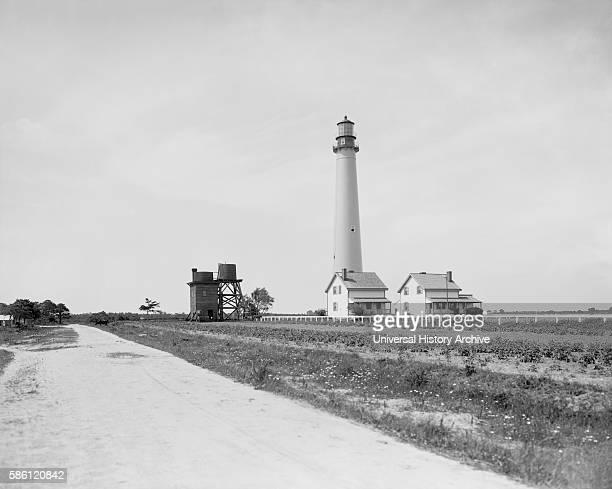 Lighthouse Cape May New Jersey USA circa 1910