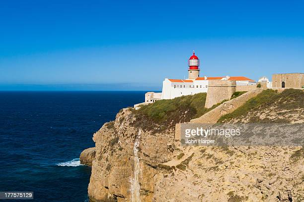 lighthouse, cape sao vicente, sagres, algarve - sagres stock pictures, royalty-free photos & images