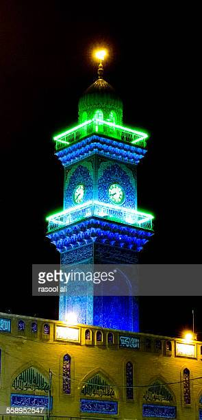 Lighthouse clock tower in Al-Kadhimiya Mosque