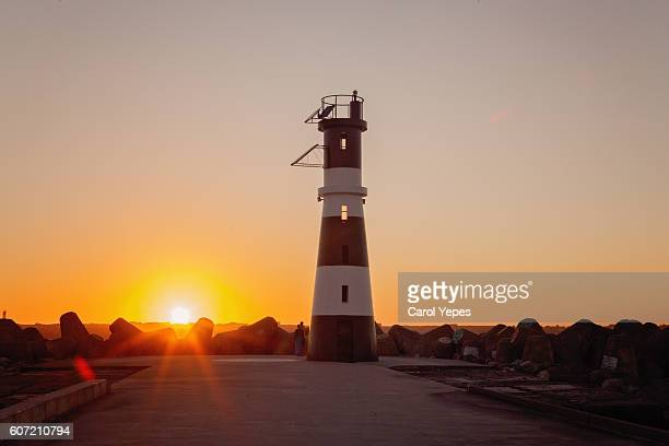 Lighthouse, Costa Nova, Aveiro in sunset