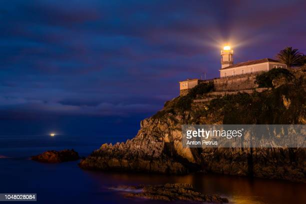 Lighthouse Cudillero in the region of Asturias in the north of Spain.