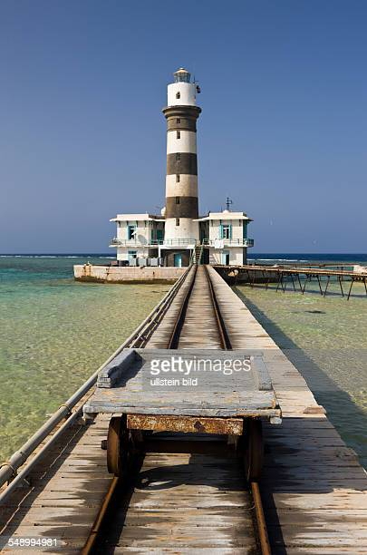Lighthouse Daedalus Reef, Red Sea, Egypt