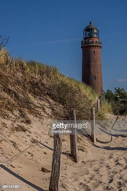 lighthouse darsser ort - fischland darss zingst photos et images de collection