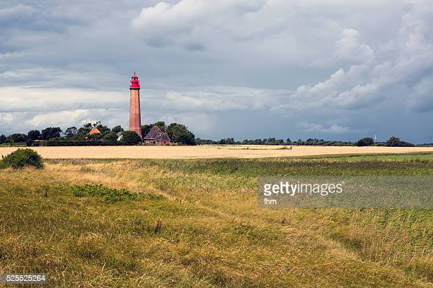"""lighthouse """"fl��gge"""", fehmarn/ germany - fehmarn stock pictures, royalty-free photos & images"""