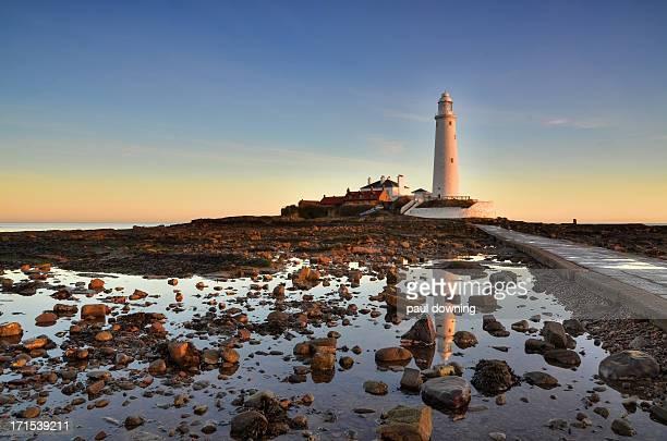 A lighthouse for dangerous coastline.