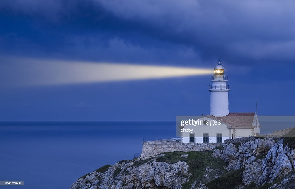 Lighthouse in Blue - Far de Capdepera : Stock Photo