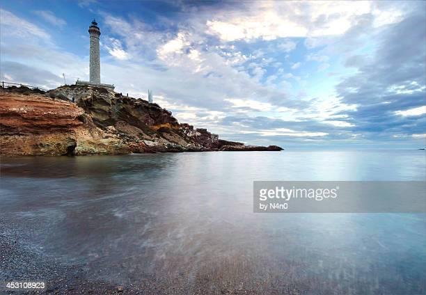 lighthouse in cabo de palos - murcia - fotografias e filmes do acervo