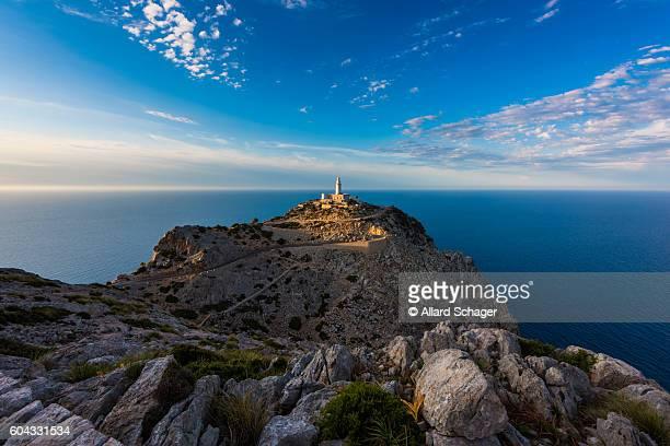 Lighthouse in Cap de Formentor Mallorca around sunset
