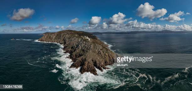 lighthouse in finisterre galicia spain - camino de santiago stock pictures, royalty-free photos & images