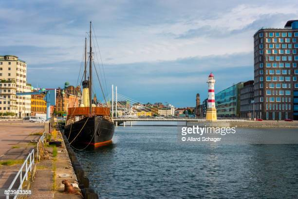 Lighthouse in Harbor of Malmo Sweden