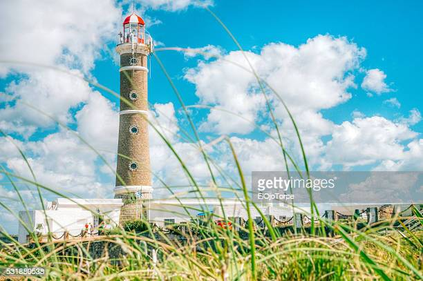 lighthouse in josé ignacio beach, punta del este, uruguay - jose ignacio lighthouse stock photos and pictures