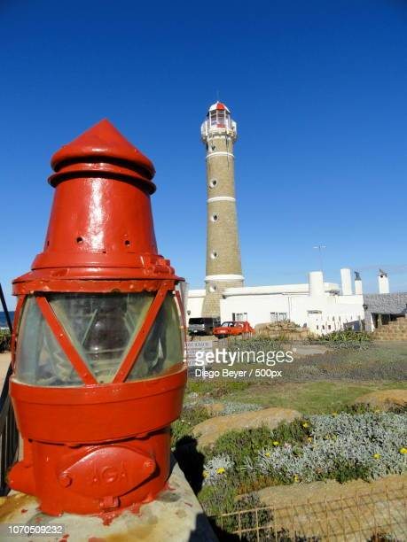 lighthouse in jose ignacio - jose ignacio lighthouse stock photos and pictures