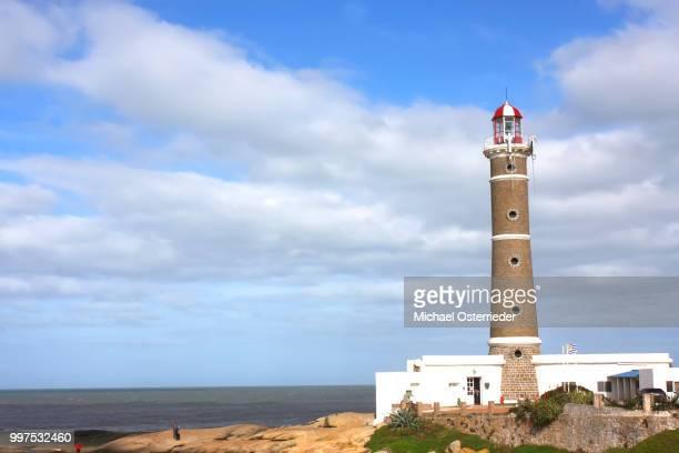 lighthouse in jose ignacio - jose ignacio lighthouse stock pictures, royalty-free photos & images