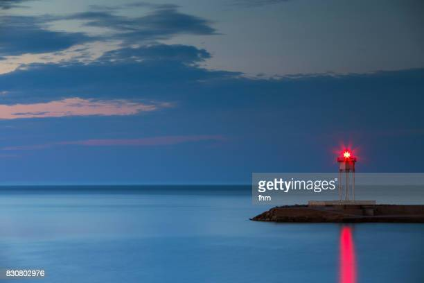 Lighthouse in Port Vendres at Cote Vermeille  (Pyrenees-Orientales, France)