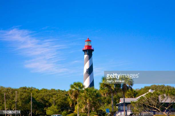 lighthouse in st. augustine - st augustine lighthouse stock photos and pictures
