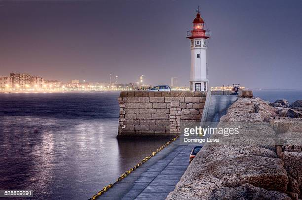 Lighthouse in the harbour of Almería