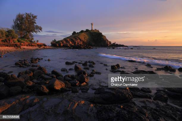 Lighthouse in Twilight at Ko Lanta Island, Krabi