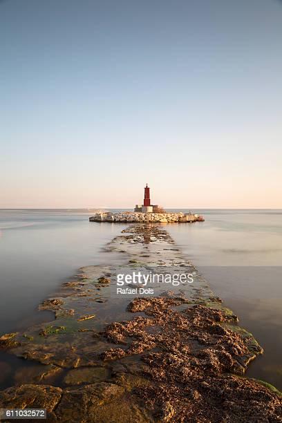 Lighthouse in Villajoyosa, Costa Blanca, Alicante, Spain