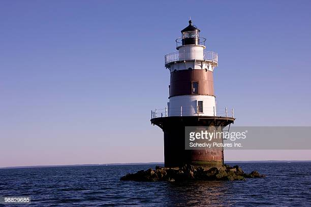 lighthouse long island sound - stamford connecticut stock pictures, royalty-free photos & images