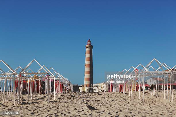 Lighthouse of Aveiro and Barra beach