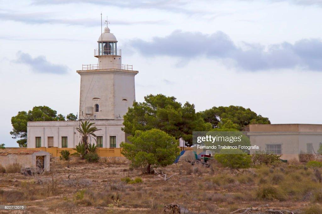 lighthouse of Cabo de Santa Pola, Alicante (Spain) : Stock Photo
