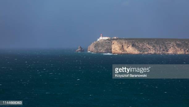 lighthouse of cabo de são vicente, portugal, europe - sagres bildbanksfoton och bilder