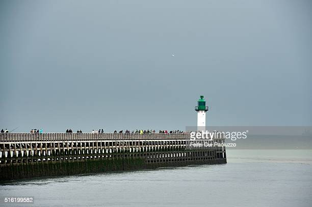 Lighthouse of Calais in the department of Pas-de-Calais in Nord-Pas-de-Calais-Picardie region in Northern part of France