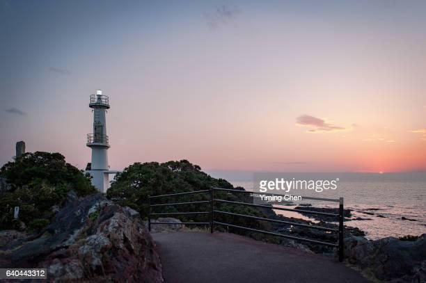 lighthouse of cape nagasaki-bana - 指宿市 ストックフォトと画像