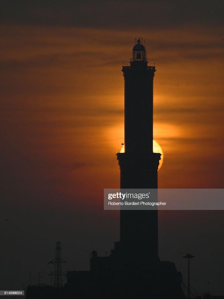 Lighthouse of Genova ( Symbol fo the City) : Foto stock