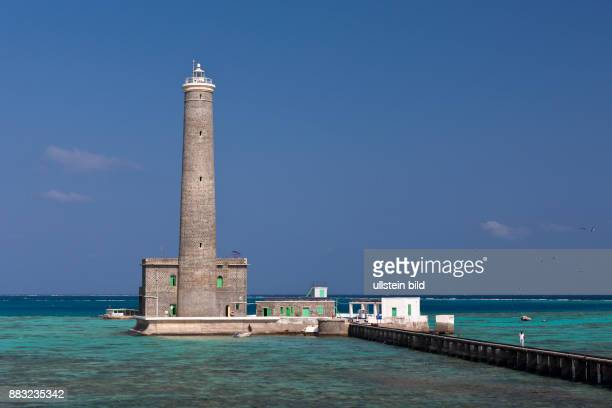 Lighthouse of Sanganeb Reef, Red Sea, Sudan