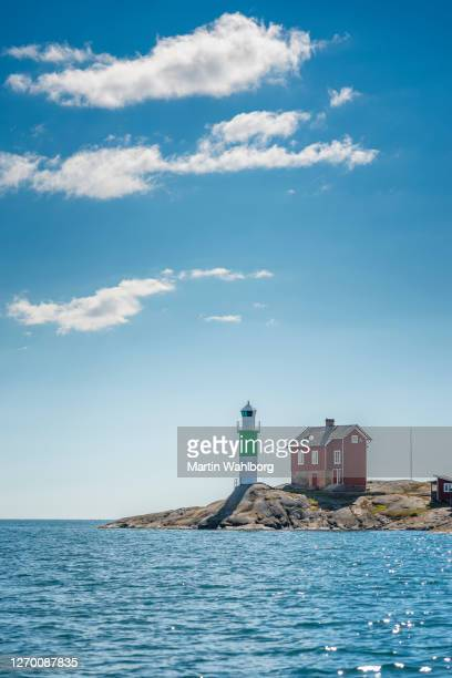 lighthouse of valo - archipelago stock pictures, royalty-free photos & images