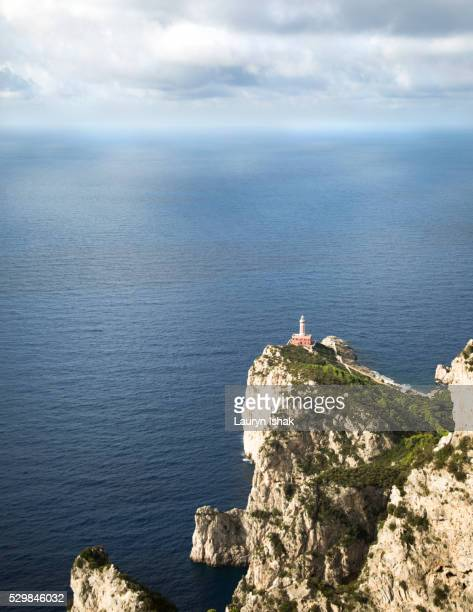 A lighthouse off the coast of Capri, Italy