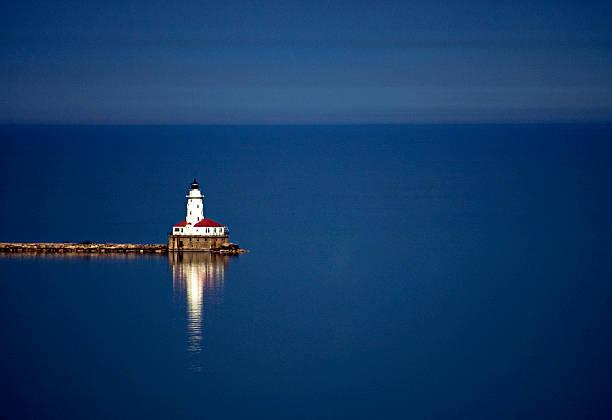 Lighthouse On A Lake Wall Art