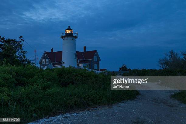 Lighthouse on Cape Cod with path