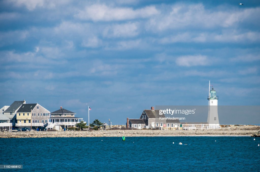 Lighthouse on Cedar Point : Stock Photo